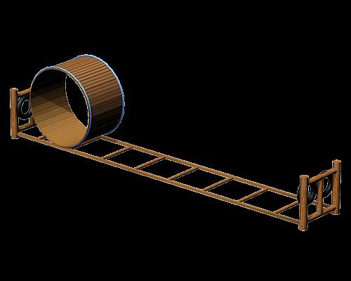 地面滚筒桥